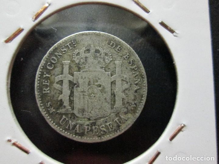 Monedas de España: 1 peseta 1903 alfonso XIII plata - Foto 2 - 131770294