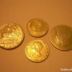 Monedas de España: LOTE DE CUATRO MONEDAS..3 DE PLATA Y UNA DE ALUMINIO.. Lote 131900902