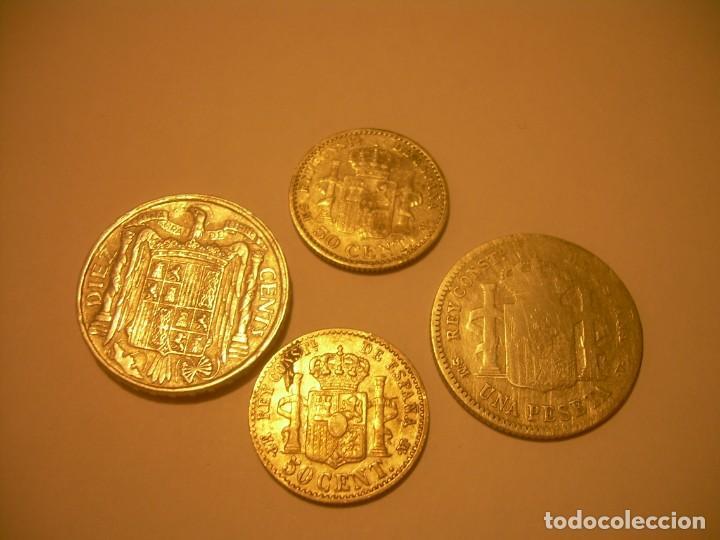 Monedas de España: LOTE DE CUATRO MONEDAS..3 DE PLATA Y UNA DE ALUMINIO. - Foto 2 - 131900902
