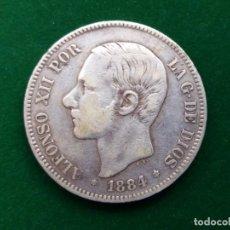 Monedas de España: MONEDA DE 5 PESETAS DE ALFONSO XII DE 1884 (*18-84) MS-M. DURO DE PLATA.. Lote 132022922