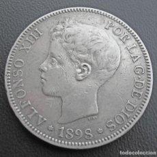 Monedas de España: ALFONSO XIII, 5 PESETAS, 1898 ESTRELLAS 18 Y 98 (PLATA). Lote 132152218