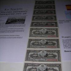 Monedas de España: TIRA DE BILLETES DE 20 CENTAVOS DEL BANCO ESPAÑOL DE LA ISLA DE CUBA. SIN CIRCULAR. AÑO 1.897. Lote 132416158