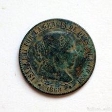 Monedas de España: 2 1/2 CENTIMOS DE ESCUDO 1868 ISABEL II SEVILLA . Lote 132611790