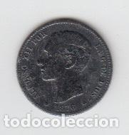 MONEDA UNA PESETA ALFONSO XII, 1876 (Numismática - España Modernas y Contemporáneas - De Isabel II (1.834) a Alfonso XIII (1.931))