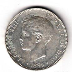 Monedas de España: ESPAÑA 5 PESETAS PLATA 1899 *18*99* REY ALFONSO XIII - PRECIOSO DURO PLATA . Lote 132820962