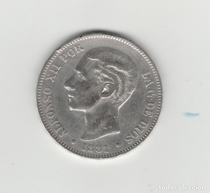 ALFONSO XII- 5 PESETAS- 1881*18-81 MSM (Numismática - España Modernas y Contemporáneas - De Isabel II (1.834) a Alfonso XIII (1.931))