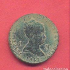 Monedas de España: ISABEL II 8 MARAVEDIS , 1847, JUBIA , VER FOTOS. Lote 133315826