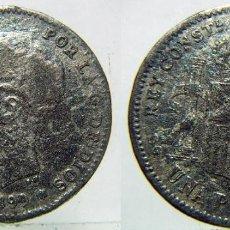 Monedas de España: MONEDA DE ALFONSO XIII 1 PESETA 1899 FALSA DE EPOCA. Lote 133407782
