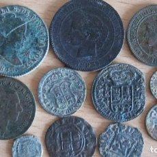 Monedas de España: LOTE DE MONEDAS DE DIFERENTES EPOCAS. Lote 133768618