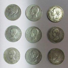 Monedas de España: 12 MONEDAS DE 5 PESETAS DE PLATA GOBIERNO PROVISIONAL, AMADEO I, ALFONSO XII, ALFONSO XIII LOTE-1202. Lote 133793866