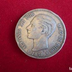 Monedas de España: B-41.- MONEDA DE -- 5 -PESETAS .- 1881.- M.S.M., LA ESTRELLA 18 NO SE VE , LA 81 MUY DIFUMINADA ,. Lote 140278918