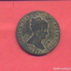 Monedas de España: ISABEL II 8 MARAVEDIS 1842 SEGOVIA, VER FOTOS. Lote 133830930