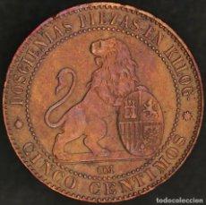 Monedas de España: GOBIERNO PROVISIONAL 5 CENTIMOS 1870. Lote 133857934