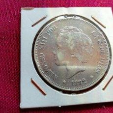 Monedas de España: DURO DE 5 PESETAS DE PLATA DE 1892 PG M. Lote 134034130