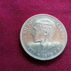 Monedas de España: EXCELENTE DURO DE 5 PESETAS DE PLATA DE 1878. ESTRELLAS MUY BIEN. Lote 134047322
