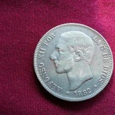Monedas de España: DURO DE 5 PESETAS DE PLATA DE 1882. Lote 134047506