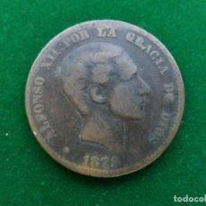 Monedas de España: MONEDA DE 10 CÉNTIMOS DE PESETA DE ALFONSO XII DE 1879.. Lote 134127194
