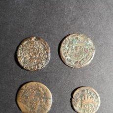 Monedas de España: FELIPE IV LOTE DE 4 MONEDAS MARAVEDIES 1618 1663 . Lote 134529526