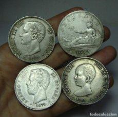 Monedas de España: INTERESANTE LOTE DE MONEDA ESPAÑOLA. TODAS DE PLATA.. Lote 134611330