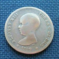 Monedas de España: COTIZADA 1 PESETA PLATA 1889 MP M ALFONSO XLLL. Lote 134682994