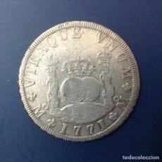 Monedas de España: CARLOS III 8 REALES PLATA 1771 MEXICO FM COLUMNARIO. Lote 134929191