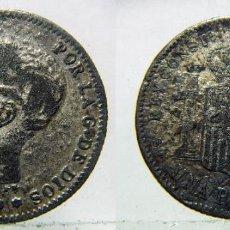 Monedas de España: MONEDA DE ALFONSO XIII 1 PESETA 1899 FALSA DE ÉPOCA.. Lote 135037830