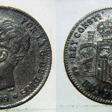 Monedas de España: MONEDA DE ALFONSO XIII 1 PESETA 1899 FALSA DE ÉPOCA.. Lote 135037946