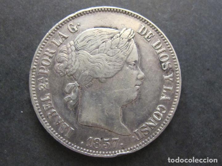 20 REALES - ISABEL II - 1857 MADRID - MBC+ (Numismática - España Modernas y Contemporáneas - De Isabel II (1.834) a Alfonso XIII (1.931))