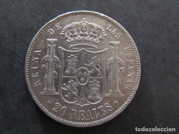 Monedas de España: 20 Reales - Isabel II - 1857 Madrid - MBC+ - Foto 2 - 135649263