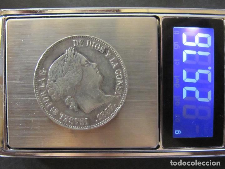 Monedas de España: 20 Reales - Isabel II - 1857 Madrid - MBC+ - Foto 4 - 135649263
