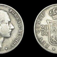 Monedas de España: ALFONSO XII - 20 CENTAVOS DE PESO - FILIPINAS - AÑO 1880 -. Lote 135657087