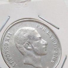 Monedas de España: 50 CENTAVOS DE PESO FILIPINAS ALFONSO XII 1881 PRECIOSA. Lote 135760238