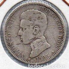 Monedas de España: MONEDA DE ALFONSO XIII 1 PESETA 1903 PLATA. . Lote 136236502