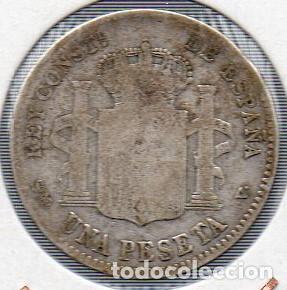 Monedas de España: Moneda de Alfonso XIII 1 peseta 1900, plata. - Foto 2 - 136236562