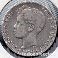 Monedas de España: MONEDA DE ALFONSO XIII 1 PESETA 1900, PLATA. . Lote 136237298