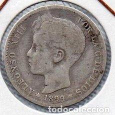 Monedas de España: MONEDA DE ALFONSO XIII 1 PESETA 1899, PLATA. . Lote 136237358