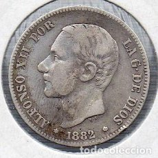 Monedas de España: MONEDA DE ALFONSO XII 2 PESETAS 1879, PLATA. . Lote 136248606
