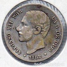 Monedas de España: MONEDA DE ALFONSO XII 2 PESETAS 1882, PLATA. . Lote 136248870