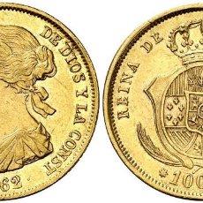 Monedas de España: 1862. ISABEL II. SEVILLA. 100 REALES. . 8,42 G. EBC PRECIOSA. Lote 136728970