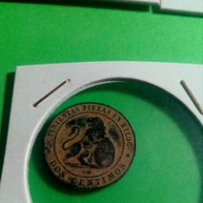 Monedas de España: MONEDA DE DOS CÉNTIMOS ISABEL II. Lote 136936033