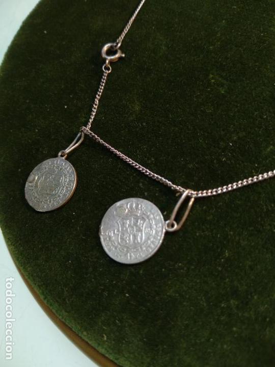 Monedas de España: BONITA E INTERESANTE PULSERA DE PLATA CON 7 MONEDAS DE 1 REAL DE ISABEL II - DIFERENTES AÑOS - - Foto 5 - 136993310