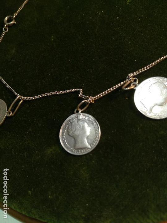 Monedas de España: BONITA E INTERESANTE PULSERA DE PLATA CON 7 MONEDAS DE 1 REAL DE ISABEL II - DIFERENTES AÑOS - - Foto 6 - 136993310