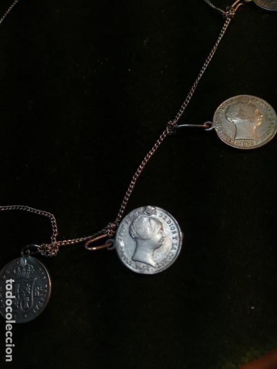 Monedas de España: BONITA E INTERESANTE PULSERA DE PLATA CON 7 MONEDAS DE 1 REAL DE ISABEL II - DIFERENTES AÑOS - - Foto 8 - 136993310