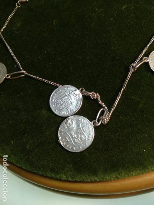 Monedas de España: BONITA E INTERESANTE PULSERA DE PLATA CON 7 MONEDAS DE 1 REAL DE ISABEL II - DIFERENTES AÑOS - - Foto 9 - 136993310