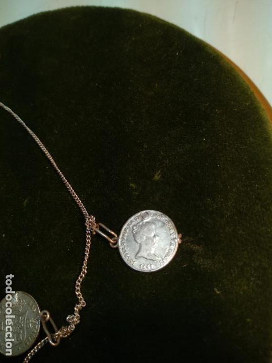 Monedas de España: BONITA E INTERESANTE PULSERA DE PLATA CON 7 MONEDAS DE 1 REAL DE ISABEL II - DIFERENTES AÑOS - - Foto 12 - 136993310