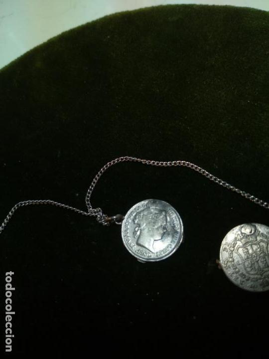 Monedas de España: BONITA E INTERESANTE PULSERA DE PLATA CON 7 MONEDAS DE 1 REAL DE ISABEL II - DIFERENTES AÑOS - - Foto 14 - 136993310