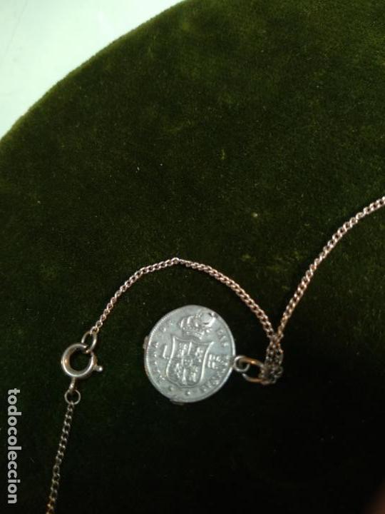Monedas de España: BONITA E INTERESANTE PULSERA DE PLATA CON 7 MONEDAS DE 1 REAL DE ISABEL II - DIFERENTES AÑOS - - Foto 15 - 136993310