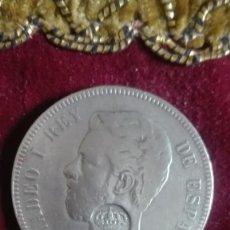 Monedas de España: AMADEO I,CON RESELLO.1873. DE GRAN CALIDAD.PROBABLEMENTE FALSA. Lote 137200438