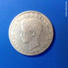 Monedas de España: ALFONSO XIII 40 CENTAVOS DE PESO PLATA 1896 PUERTO RICO MUY RARA. Lote 137225633