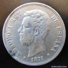 Monedas de España: 5 PESETAS AMADEO I 1871*18-71 .SD.M.. Lote 137510846